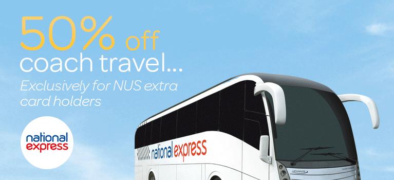 50% off at National Express