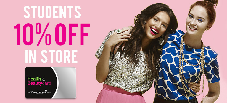 10 Discount At Superdrug With A Health Beautycard
